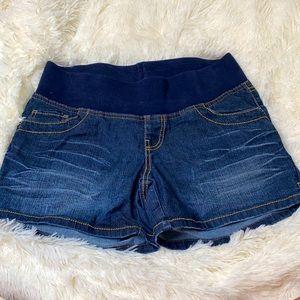 Duo Maternity Blue Jean Shorts Size Medium